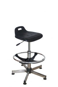 Assise ergonomique - chromé -