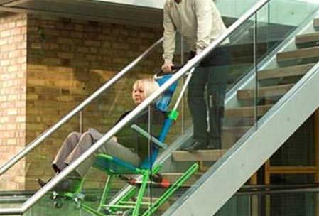 Evacusafe dans les escaliers